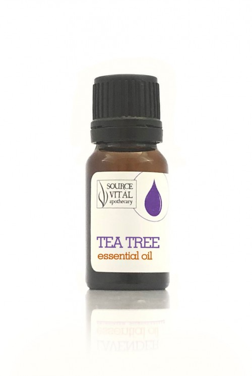 tea tree essential oil bottle